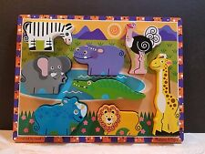 Melissa and Doug Chunky Puzzle Safari Animals