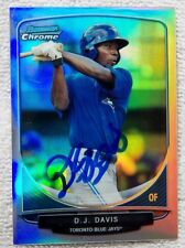 Toronto Blue Jays D.J. Davis Signed 2013 Bowman Chrome Mini Refractor Auto