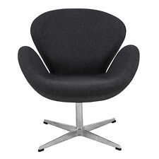 Arne Jacobsen Swan Chair in Gray Wool