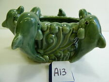 Lucky Bamboo Ceramic Pot Planter LAYERED BAMBOO LARGE NEW POT DOLPHINS P3
