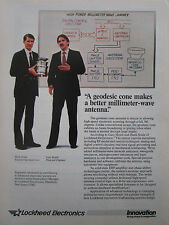 1/1987 PUB LOCKHEED ELECTRONICS GEODESIC CONE ANTENNA HANK SOULE GARY HOJELL AD