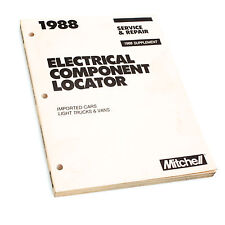 Mitchell Electrical Component Locator Imported Cars, Light Trucks & Vans 1988