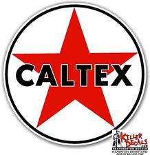 "6"" CALTEX TEXACO GASOLINE GAS PUMP OIL TANK DECAL"
