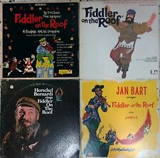 fiddler on the roof OST-5 LP LOT- bernardi, jan bart, topol, al goodman - jewish