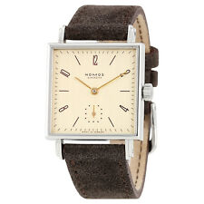 Nomos Tetra 27 Karat Gold-plated Dial Stainless Steel Ladies Watch 472