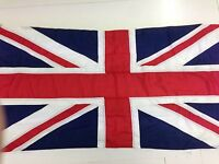 Union Jack sewn flag - Quality heavy duty outdoor flag-rope and toggle 1.5-4 yd
