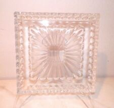 "WATERFORD CRYSTAL 9"" SQUARE SERVING PLATTER GOOD USED"