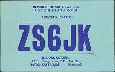Isidore Kotzen, ZS6JK   Potchefstroom, South Africa DL1DH JD.895
