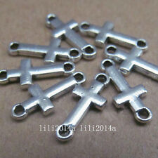50pc Tibet silver cross connector beads accessories wholesale  PL060