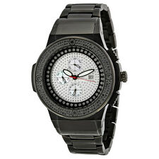 JBW Saxon Black Steel Black Diamond Mens Watch JB-6101-164-C
