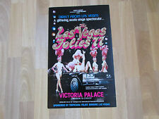 Las VEGAS Follies 77 Exotic Stage Show VICTORIA Palace Theatre Original Poster