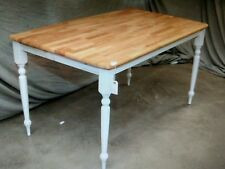 5 WOOD CAFE RESTAURANT FARM COUNTRY TABLES 60 x 30 1/2 x 30H  (T15)