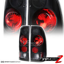 Ford 97-03 F150 F250 99-07 Superduty *STYLE-SIDE* Black Tail Lights Brake Pair