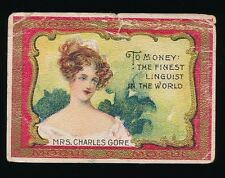 1910 T112 Mogul Cigarettes TOAST SERIES (426-550) -#470 Mrs. Charles Gore