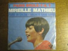 MIREILLE MATHIEU 45 TOURS FRANCE paris brule-t-il