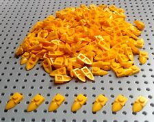 Lego Modified Yellow / Orange 1x2 Tooth Plate (49668) x25 *BRAND NEW* City
