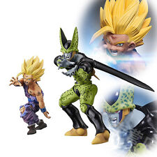 Set DBZ Dragon Ball Z Super Saiyan II Goku Gokou Son Gohan Cell Figure Figurine