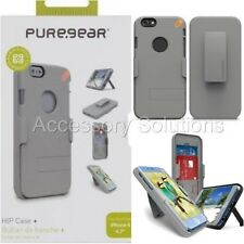 "PureGear iPhone 6S 4.7"" Hip Credit Card Case Holster W/ Belt Clip Gray, 60842PG"