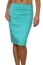 """(2541) Stretch Skirt 22"""" Smart Casual Slight Sheen 6-18"""