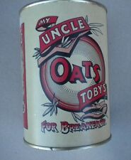 UNCLE TOBY'S OATS TIN COLLECTOR ITEM,NEVER OPEN,USED,TRADITIONAL TIN,750 GRAMS