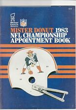 Mister Donut 1983 NFL Championship Appointment Book