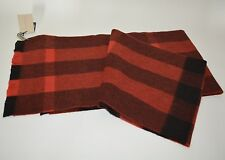 NWT BURBERRY UNISEX CHECK 100% CASHMERE  SCARF WRAP MADE IN SCOTLAND