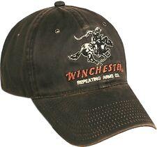 Winchester Dark Brown Weathered Cotton Cap
