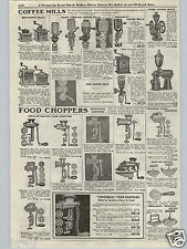1917 PAPER AD Glass Wall Mount Coffee Mill Grinder National Wheel Type
