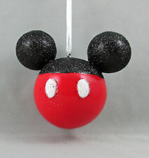 Disney 3D Mickey Mouse Icon Head Pants Holiday Christmas Ornament Glittery