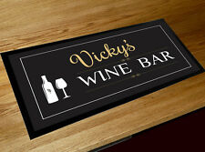 Personalised Any Name Wine bar runner counter mat Pubs  & Cocktail Bars