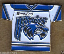 WEST END OTTAWA WOLVERINES ON CANADA JUNIOR HOCKEY CLUB PIN BELL CAPITAL CUP