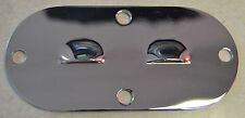 Louvered Chrome inspection cover Harley Davidson Big Twins 1965-99