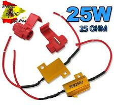 2X RESISTENCIAS 25W 25OHM KIT CANBUS ANULA ERROR LED T10 W5W BA9S BAX9S FESTOON