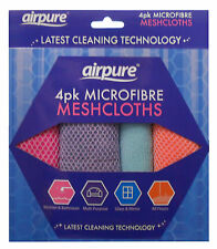 AIRPURE 4 Pack MICROFIBRE MULTI-PURPOSE MESHCLOTHS CLOTH DUSTER MICRO FIBRE