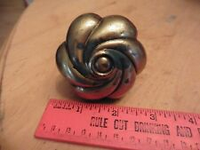 vintage door knob heavy brass swirl antique door handle unique style