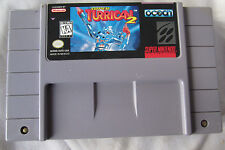 SUPER TURRICAN 2 Super Nintendo gAme Cartridge SNES Tested & Cleaned !