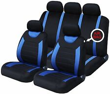 Oxford Blue 9 Piece Full Set Of Seat Covers For Nissan Almera
