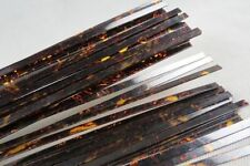 10STRIP TORTOISE SHELL CELLULOID BINDING,Measures7mm x1.5mm thick and1600mm long