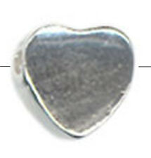 ONE TINY SMALL STERLING SILVER HEART SPACER BEAD, 5 MM