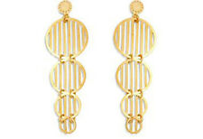 18K GOLD PLATED EARRINGS MULTI CIRCLES - 100% FREE OF NICKEL OR LEAD