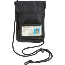 Black US PASSPORT COVER Neck Strap Lanyard Organizer Case Travel Wallet Holder