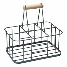 KitchenCraft Living Nostalgia wire Milk Bottle  Carrier with  Handle