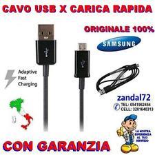 CAVO USB X CARICA RAPIDA VELOCE ORIGINALE SAMSUNG GALAXY S6 S7 NOTE 5  NERO