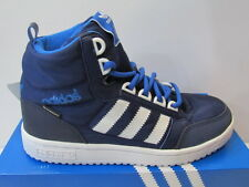 UK SIZE KIDS 11 - ADIDAS PRO PLAY PRIMALOFT UNISEX HI TOP SNEAKERS - NAVY/WHITE