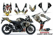 AMR Racing Graphic Kit Wrap Part Suzuki GSXR 600/750 Street Bike 06-07 IRON MADN