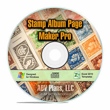 Stamp Album Page Maker Pro, Make Your Own Custom Printable Stamp Pages CD F13