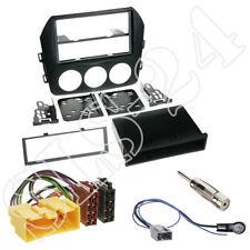 Mazda MX-5 Doppel 2-DIN Blende+ISO Kabel KFZ Adapter+Antenne Stecker Einbau-SET