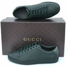 GUCCI New sz 13 G US 13.5 Authentic Mens Sneakers Shoes green snakeskin details