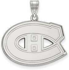 Sterling Silver NHL Montreal Canadiens Large Pendant by LogoArt