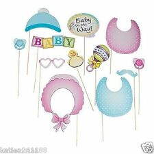 New baby shower photo booth props sur bâtons photographie unisexe garçon fille fun game